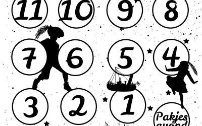 Gratis Sint & Piet aftelkalender PRINTABLE
